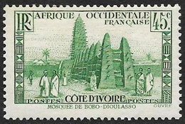 COTE D'IVOIRE   1939-42 -  Y&T  153   -  Mosquée -  NEUF* - Neufs