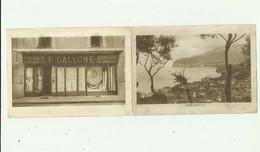 ITALIE - Publicité Double, Magasin GALLONE Devanture Du Magasin Et Vue De SORRENTO - Reclame