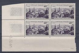 PIC Du MIDI N° 916 - BLOC De 4 COIN DATE - NEUF SANS CHARNIERE - 5/12/51 - 1950-1959