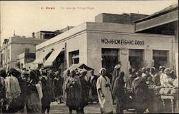 CPA Oran Algerien, Un Coin Du Village Nègre, Straßenansicht, Geschäft, Markt - Alger