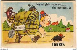 D65 TARBES  J'en Ai Plein Mon Sac  .............  Carte à Système Avec Dépliant De Petites Photos Complet - Met Mechanische Systemen