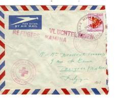 RDC TP 317 C.violet  Base Militaire Kamina+Griffe Rouge Réfugiés Vluchtelingen Kamina > Belgique C.C.R. Belgique + - Republik Kongo - Léopoldville (1960-64)