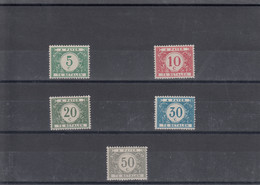 TX26/31 * (MH) - OBP € 35 - Stamps