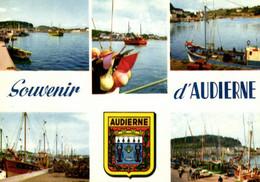 E 3364 - Audierne  (29) Entrée Du  Port    Langoustiers  Chateau De Locqueran - Audierne