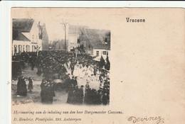 Vracene : Herinnering Aan De Inhaling Van Den Heer Burgemeester Goossens - Beveren-Waas