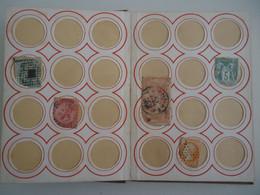 RARE Album à Fenêtres Rondes 1876 Ou Avant? - Ate Longuet, Paris - Raccoglitori Con Fogli D'album