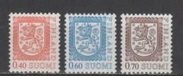 (SA2001) FINLAND, 1975 (Definitives. Coat Of Arms). Complete Set. Mi ## 760-762. MNH** - Nuevos