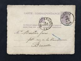 Postkaart EC NINOVE 12 MAI 5-S 1878 - Postales [1871-09]