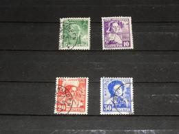 SERIE 306-309  PRO JUV. 1936 GEBRUIKT - Used Stamps