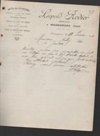 Neussargues  (15 Cantal)  Lettre Avec Entête  HOTEL DES VOYAGEURS  LEOPOLD RODIER  1911 (PPP27145) - 1900 – 1949