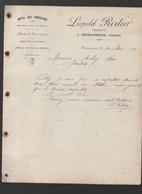 Neussargues  (15 Cantal)  Lettre Avec Entête  HOTEL DES VOYAGEURS  LEOPOLD RODIER  1911 (PPP27146) - 1900 – 1949