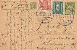 Tchécoslovaquie Entier Postal Pour L'Allemagne 1928 - Postales