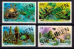 """GRENADINEN VON ST. VINCENT 1976, Korallen, Postfrische Kab.-Satz Mit """"SPECIMEN"""" - St.Vincent & Grenadines"""