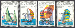 GRENADINEN VON ST. VINCENT 1979 Nationale Segelregatta Postfrische Satz SPECIMEN - St.Vincent & Grenadines