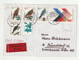 """Bundesrepublik Deutschland - 1973 - Expressbrief Mit U.a. Ausgabe """"Greifvoegel"""" Ex Beckum Nach Duesseldorf (1/254) - Covers"""