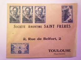 2021 - 954  Enveloppe  à Destination De TOULOUSE  Affranchie Mais Qui N'a Pas Circulé  XXX - Briefe U. Dokumente