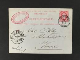 Postkaart EC MOUSCRON 12 JUIL 1882 - Postales [1871-09]