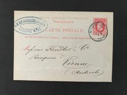 Postkaart EC NINOVE 1882 - Postales [1871-09]