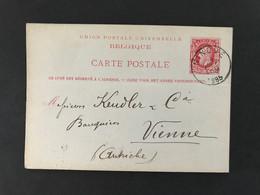 Postkaart EC NINOVE 1885 - Postales [1871-09]