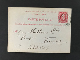 Postkaart EC NINOVE 1885 - Postkaarten [1871-09]