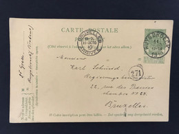 Postkaart EC RUYSBROECK 11 OCTO 1910 - Postales [1909-34]