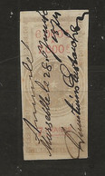 FISCAUX EFFET N°87  7F TYPE ETOILE DE BARRE 1872 - Fiscale Zegels