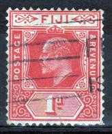 Fiji Edward VII 1d  Definitive Stamp From 1906. - Fidschi-Inseln (...-1970)