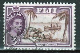 Fiji 1954 Queen Elizabeth 3d Single Definitive Stamp. - Fidschi-Inseln (...-1970)