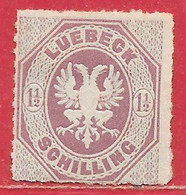 Lübeck N°14 1,5s Lilas 1866 (*) - Luebeck