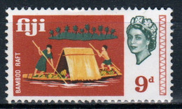 Fiji 1968 Queen Elizabeth 9d Single Definitive Stamp. - Fidschi-Inseln (...-1970)
