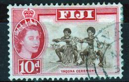 Fiji 1959 Queen Elizabeth 10d Single Definitive Stamp. - Fidschi-Inseln (...-1970)