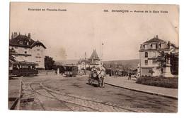 Besancon Avenue De La Gare Viotte Circulee En 1910 Tramway Charette - Besancon