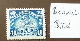 Polen 1952  Mi-Nr. 735  Radfernfahrt Rad   Postfrisch ** MNH   #5446 - Ongebruikt