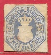 Mecklembourg-Sterliz N°5 2s Bleu 1864 (*) - Mecklenbourg-Strelitz