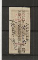 FISCAUX EFFET N°88 8F TYPE ETOILE DEBARRE 1872 - Fiscale Zegels