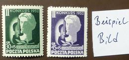Polen 1952  Mi-Nr. 785 -86  Henryk WIENIAWSKI  Komponist  Violinist   Postfrisch ** MNH   #5446 - Ongebruikt
