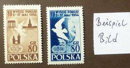 Polen 1954  Mi-Nr. 845 -46  Radfernfahrt Für Den Frieden   Postfrisch ** MNH   #5446 - Ongebruikt