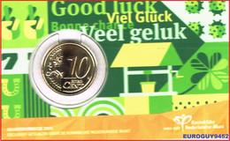 NEDERLAND - COINCARD 10 C 2021 UNC - GELUKSDUBBELTJE - Netherlands