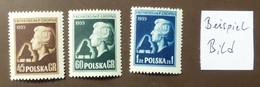 Polen 1954  Mi-Nr. 879 -81   Chopin   Postfrisch ** MNH   #5447 - Ongebruikt