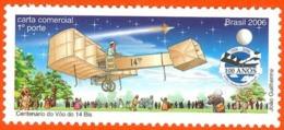 BRAZIL #2956  - Santos Dumont  - Centenary Of First Flight  Airplane 14 Bis - 1v -  2006  Mint - Neufs