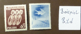 Polen 1955  Mi-Nr. 905 -06    Radfernfahrt Postfrisch ** MNH   #5447 - Ongebruikt