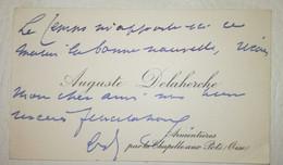 AUGUSTE DELAHERCHE (1857 - 1940) - Céramiste - C.D.V. Autographe Signé - Handtekening