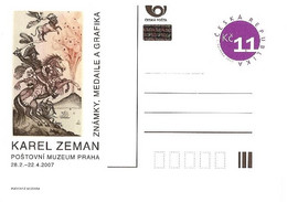 CDV PM 56 Czech Republic B. Zeman Exhibition In The Post Museum 2007  Volcano Tiger Saddle Napoleon's General Murat - Napoleón