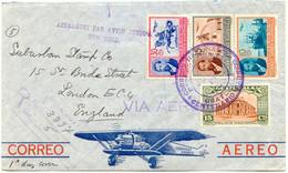 GUATEMALA 1935, Barrios, Portorichtige Mischfrankatur A. Pra.-Lupo-R-Bf. M. ESST - Guatemala