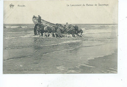 Knokke Lancement Du Bateau De Sauvetage - Knokke