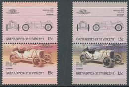 GRENADINES OF ST. VINCENT 1986 Mercedes Benz Both 15 C.  U/M MISSING GREY COLOUR - St.Vincent & Grenadines