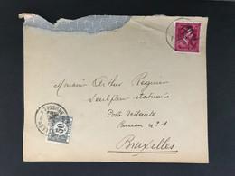 Briefomslag 1f50 + 50c Strafport - 1946 -10%
