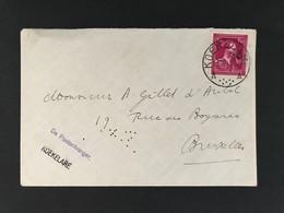 "Briefomslag 1f50 KOEKELAERE A Met Stempel ""De Postontvanger Koekelare"" - 1946 -10%"
