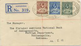 GOLD COAST 1932 Georg V 6 D Single Postage And 1 D, 2 D, 3 D Mixed Franking Cvr - Goldküste (...-1957)