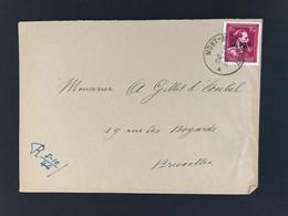 Briefomslag 1f50 MONT ST GUIBERT - 1946 -10%